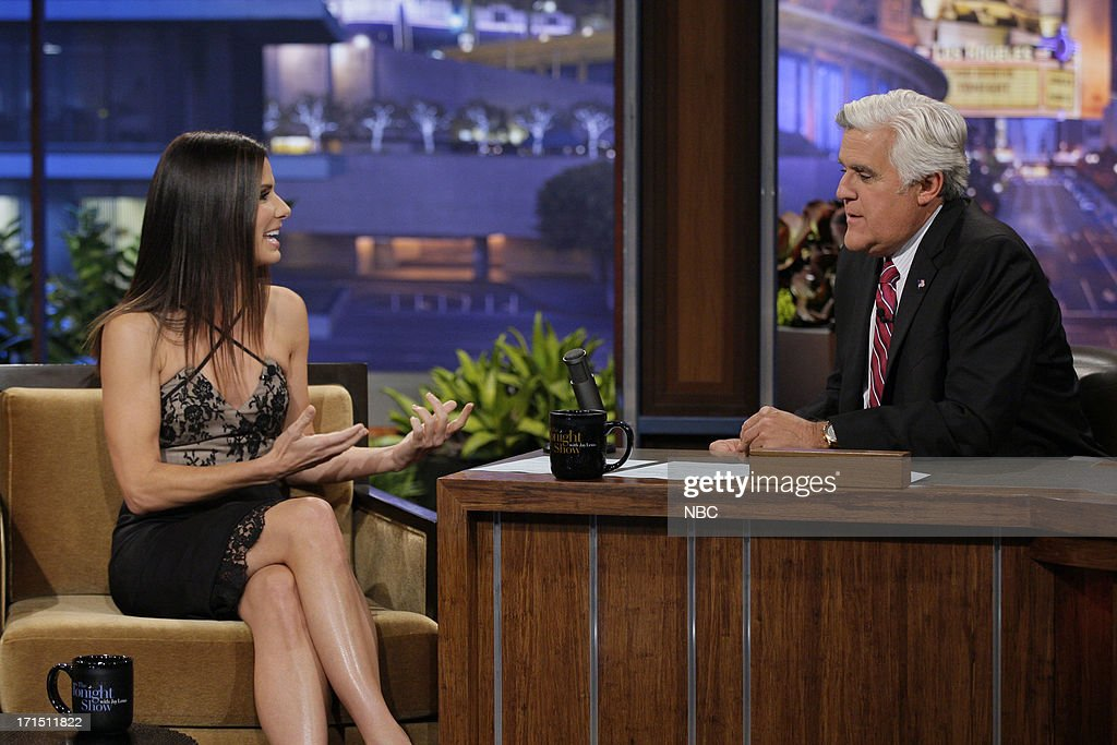 Actress Sandra Bullock during an interview with host Jay Leno on June 25, 2013 --