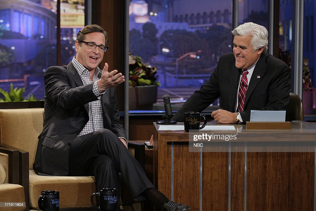 Comedian Bob Saget during an interview with host Jay Leno on June 25, 2013 --