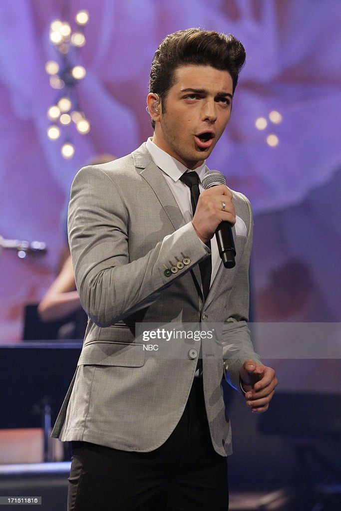 <a gi-track='captionPersonalityLinkClicked' href=/galleries/search?phrase=Ignazio+Boschetto&family=editorial&specificpeople=5945023 ng-click='$event.stopPropagation()'>Ignazio Boschetto</a> of musical guest Il Volo performs on June 25, 2013 --