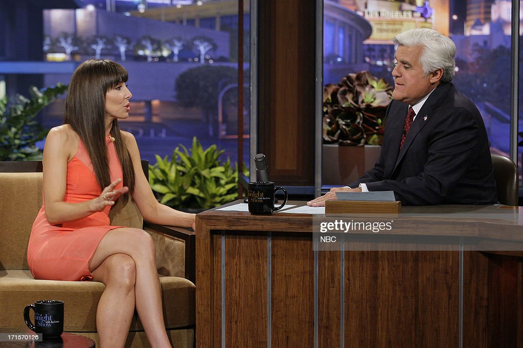 Comedian <a gi-track='captionPersonalityLinkClicked' href=/galleries/search?phrase=Whitney+Cummings&family=editorial&specificpeople=240395 ng-click='$event.stopPropagation()'>Whitney Cummings</a> during an interview with host Jay Leno on June 26, 2013 --