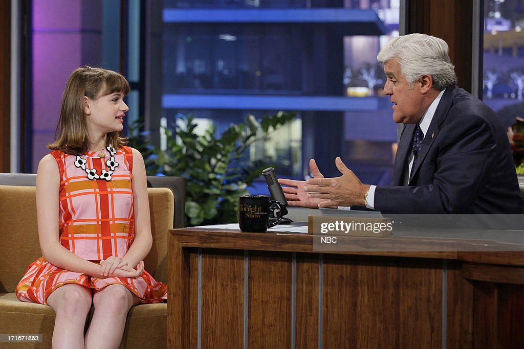 Actress Joey King during an interview with host Jay Leno on June 27, 2013 --