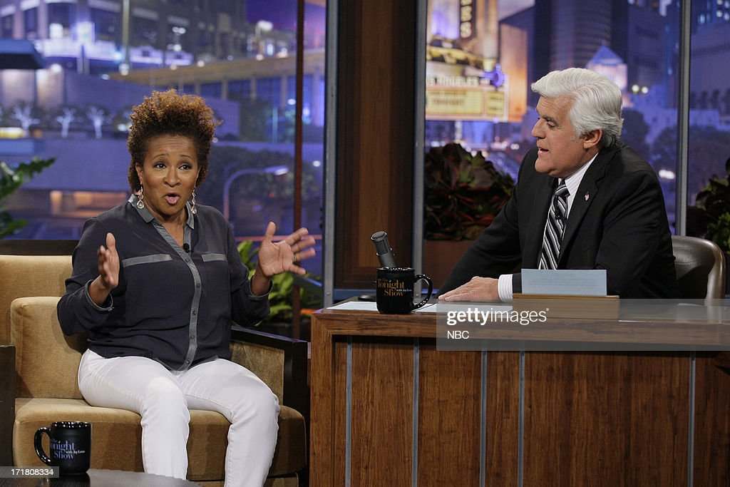 Comedian Wanda Sykes during an interview with host Jay Leno on June 28, 2013 --