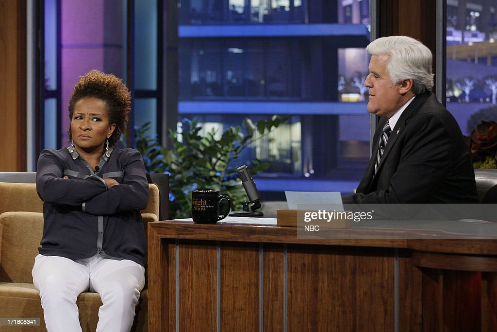Comedian <a gi-track='captionPersonalityLinkClicked' href=/galleries/search?phrase=Wanda+Sykes&family=editorial&specificpeople=208075 ng-click='$event.stopPropagation()'>Wanda Sykes</a> during an interview with host Jay Leno on June 28, 2013 --