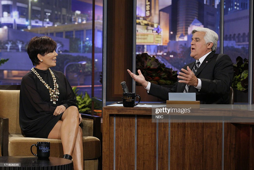 Kris Jenner during an interview with host Jay Leno on June 28, 2013 --