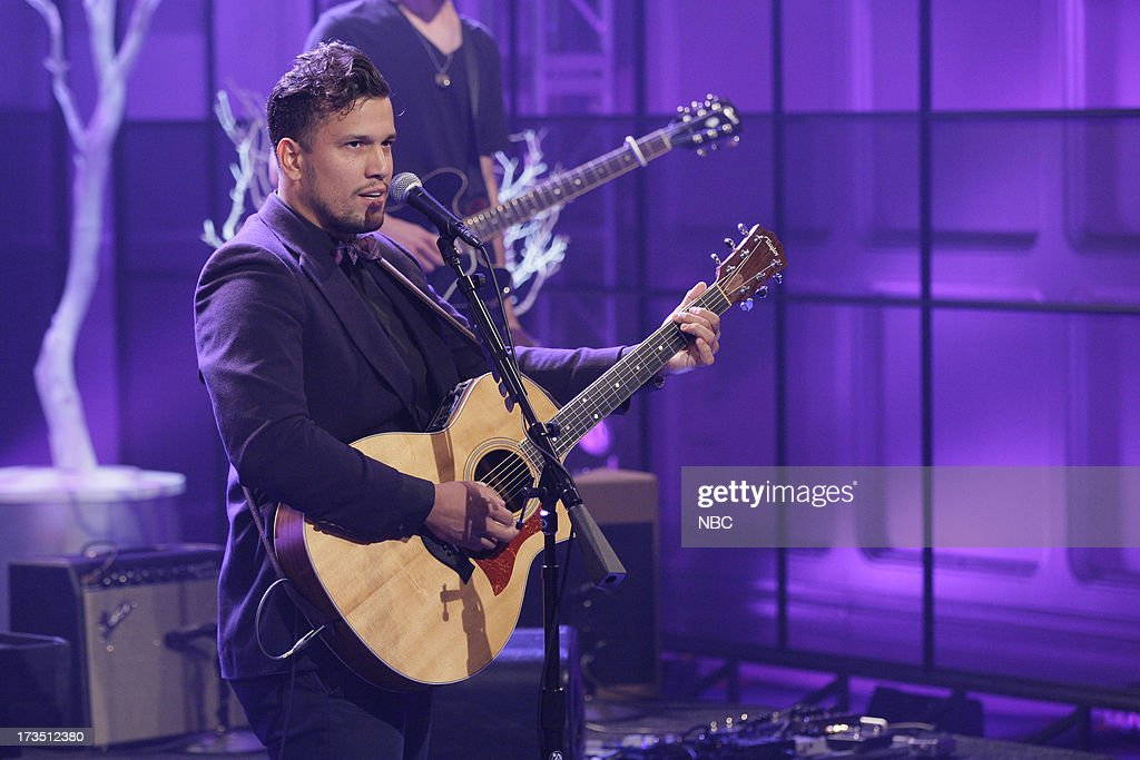 Abner Ramirez of musical guest Johnnyswim performs on July 15, 2013 --