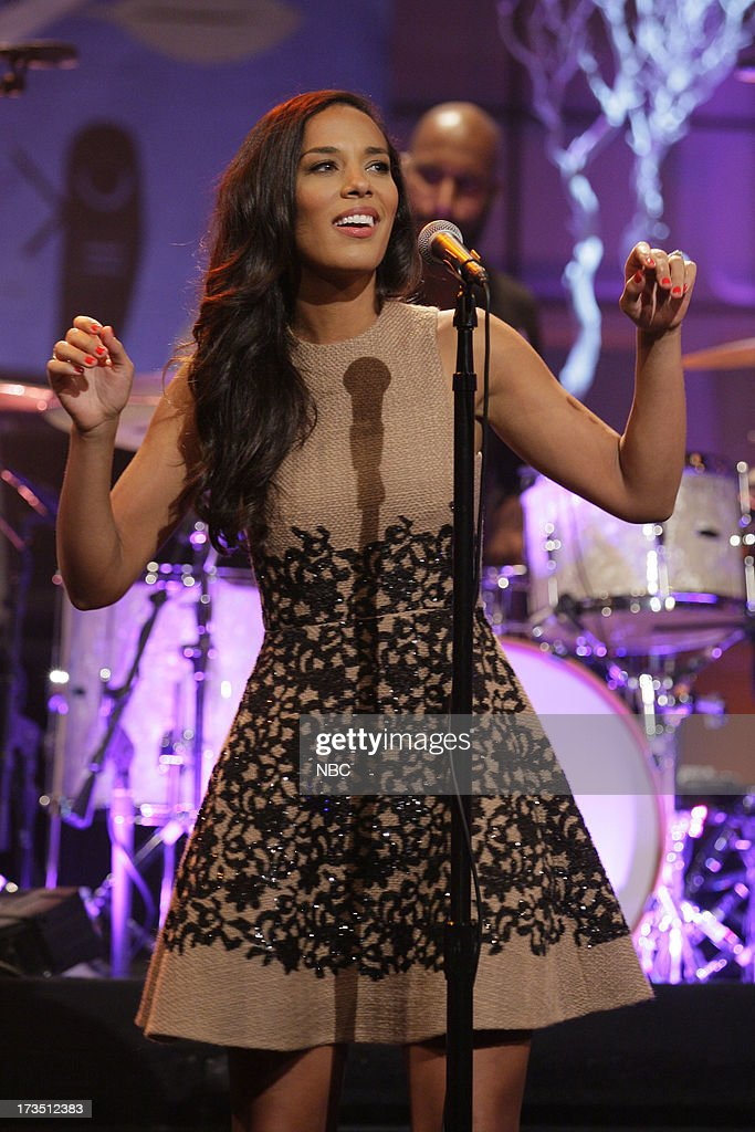 Amanda Sudano of musical guest Johnnyswim performs on July 15, 2013 --