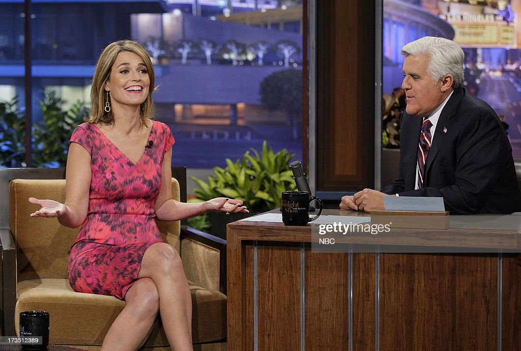 <a gi-track='captionPersonalityLinkClicked' href=/galleries/search?phrase=Savannah+Guthrie&family=editorial&specificpeople=653313 ng-click='$event.stopPropagation()'>Savannah Guthrie</a> during an interview with host Jay Leno on July 15, 2013 --