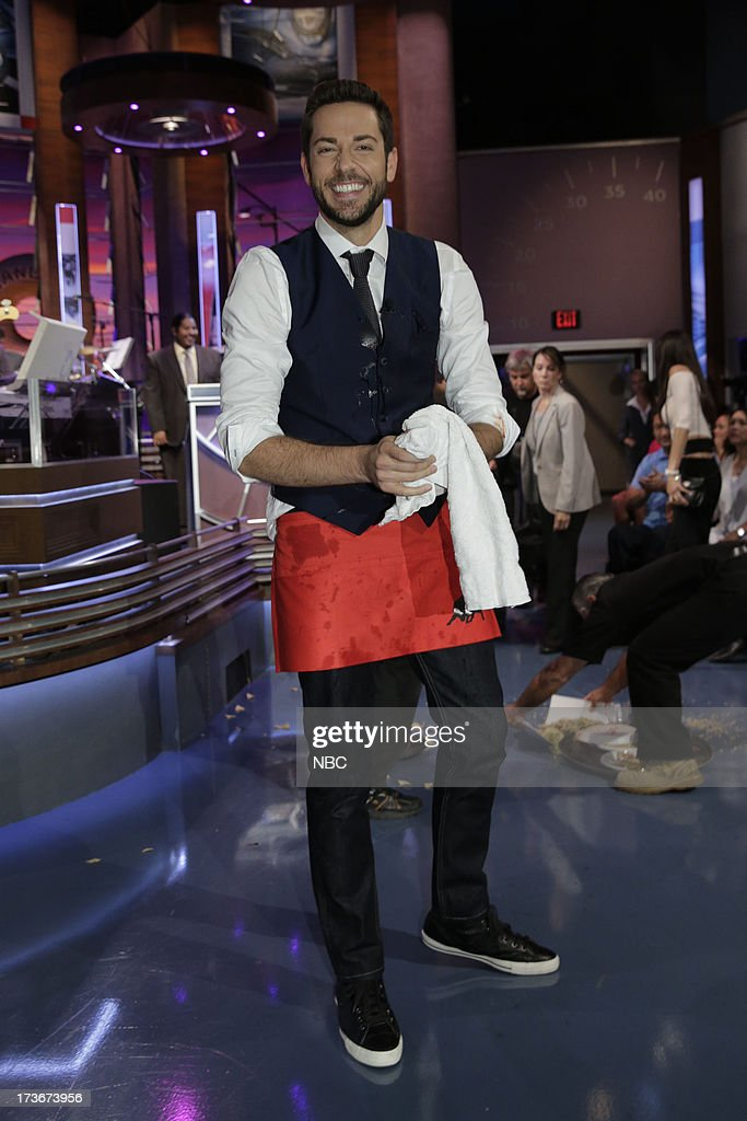 LENO -- (EXCLUSIVE COVERAGE) -- Episode 4496 -- Pictured: Actor Zachary Levi during a commerical break on July 16, 2013 --