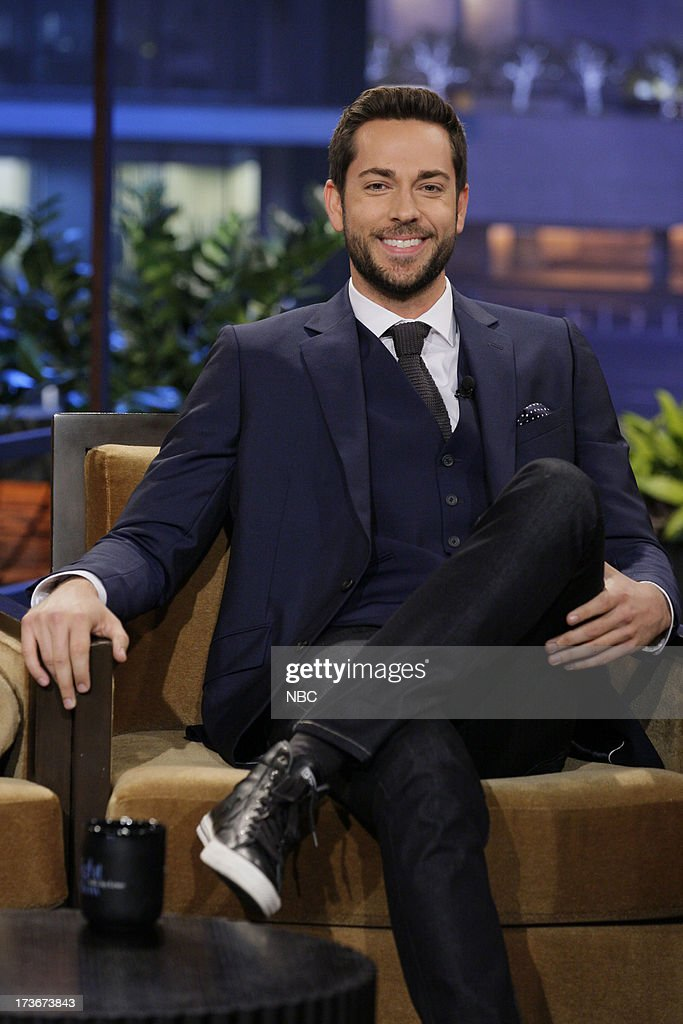 Actor <a gi-track='captionPersonalityLinkClicked' href=/galleries/search?phrase=Zachary+Levi&family=editorial&specificpeople=242766 ng-click='$event.stopPropagation()'>Zachary Levi</a> during an interview on July 16, 2013 --