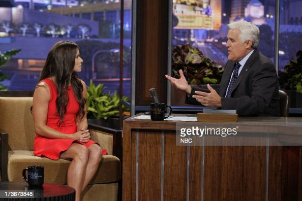 Nascar driver Danica Patrick during an interview with host Jay Leno on July 16 2013