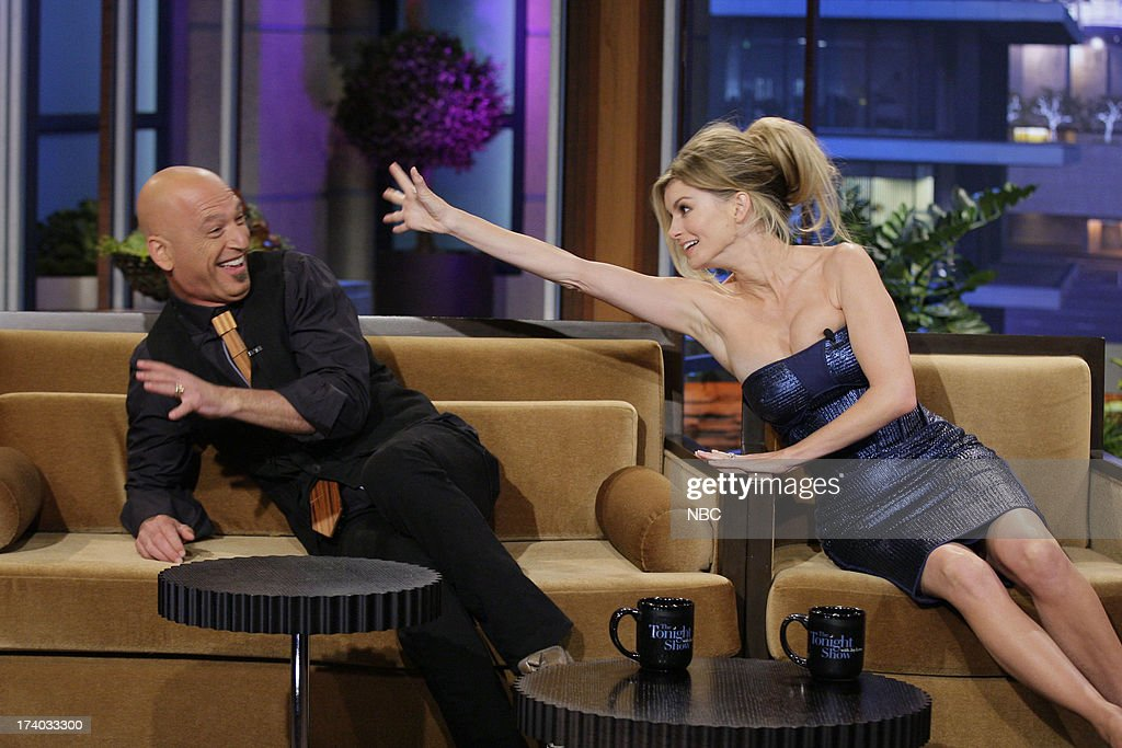 Comedian <a gi-track='captionPersonalityLinkClicked' href=/galleries/search?phrase=Howie+Mandel&family=editorial&specificpeople=595760 ng-click='$event.stopPropagation()'>Howie Mandel</a> and Supermodel <a gi-track='captionPersonalityLinkClicked' href=/galleries/search?phrase=Marisa+Miller&family=editorial&specificpeople=224592 ng-click='$event.stopPropagation()'>Marisa Miller</a> during an interview on July 19, 2013 --