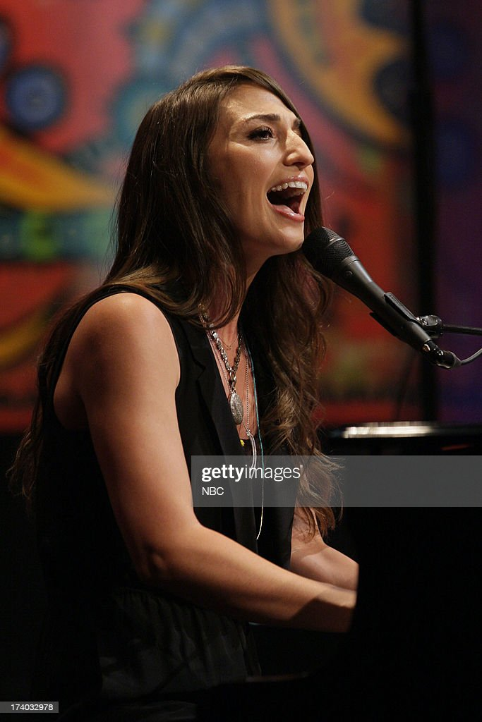 Musical guest Sara Bareilles performs on July 19, 2013 --