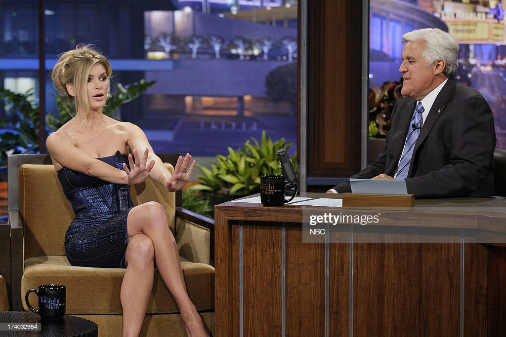 Supermodel Marisa Miller during an interview with host Jay Leno on July 19, 2013 --