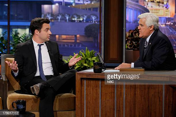 Actor Jake Johnson during an interview with host Jay Leno on July 29 2013