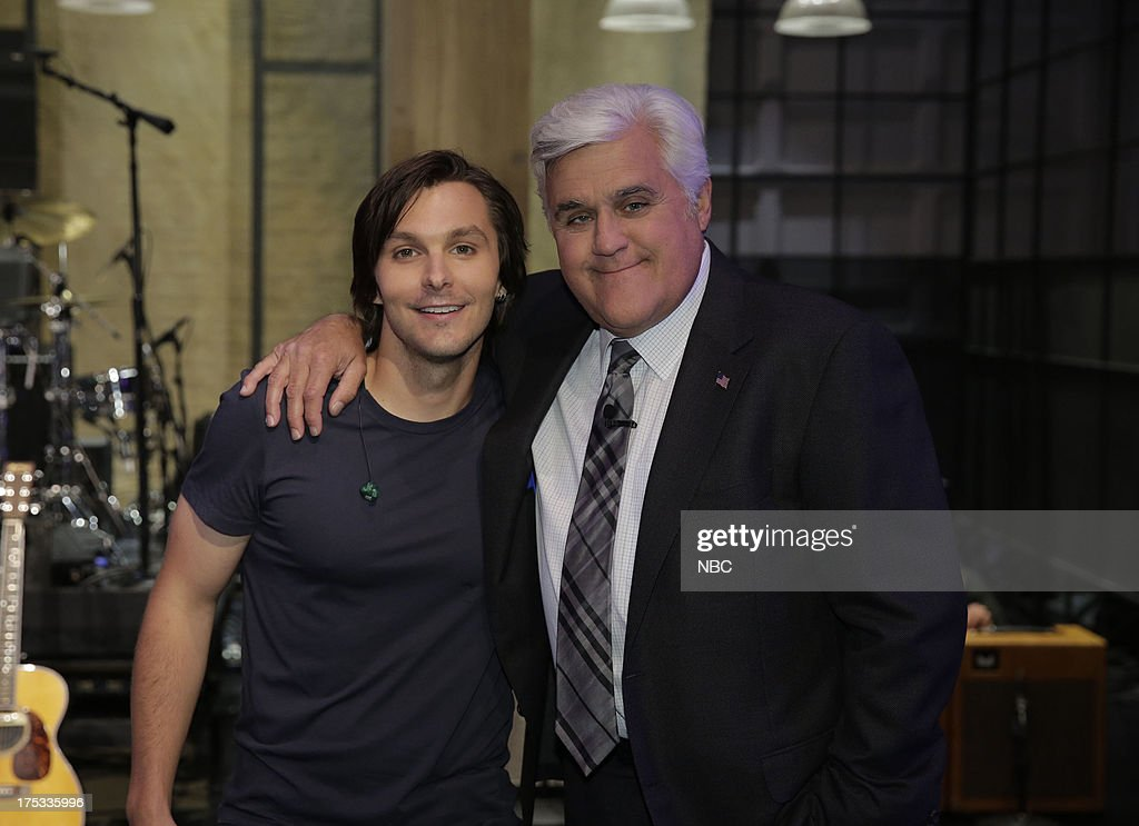LENO -- (EXCLUSIVE COVERAGE) -- Episode 4509 -- Pictured: (l-r) Charle Worsham and host Jay Leno on August 2, 2013 --