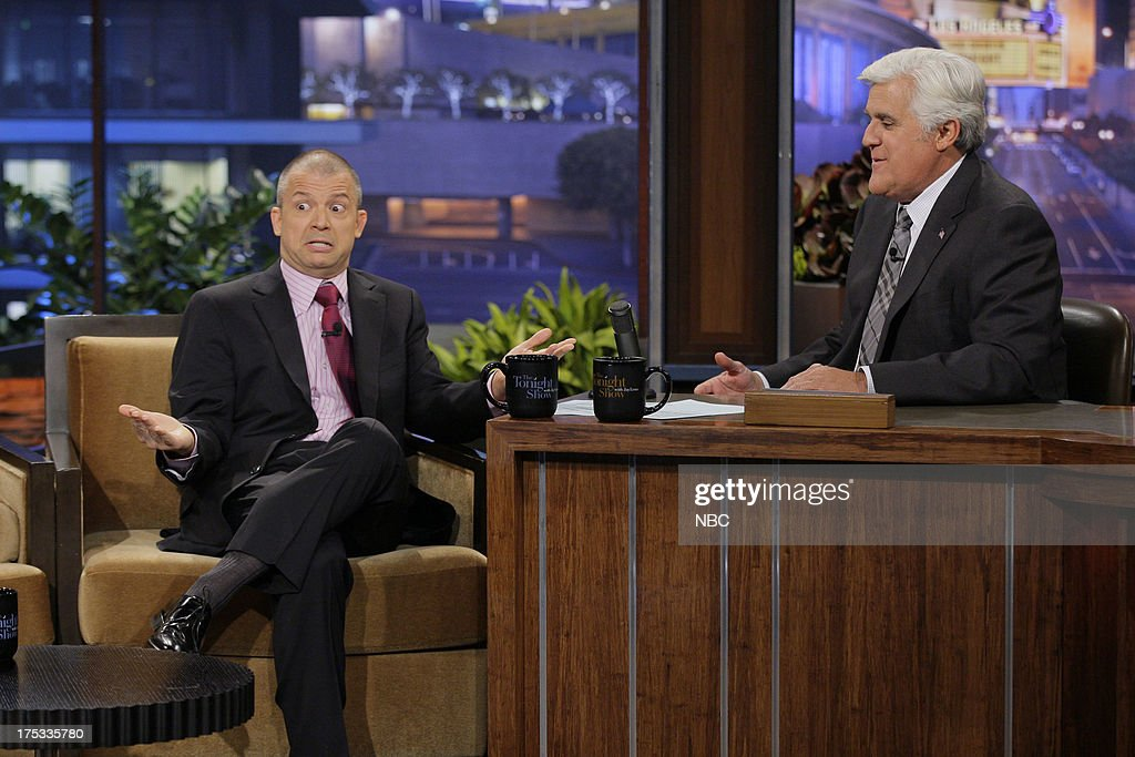 Comedian Jim Norton during an interview with host Jay Leno on August 2, 2013 --