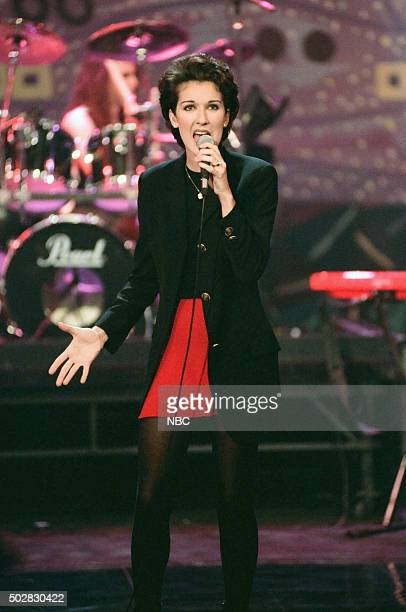 Musical guest Celine Dion performs on May 4 1994