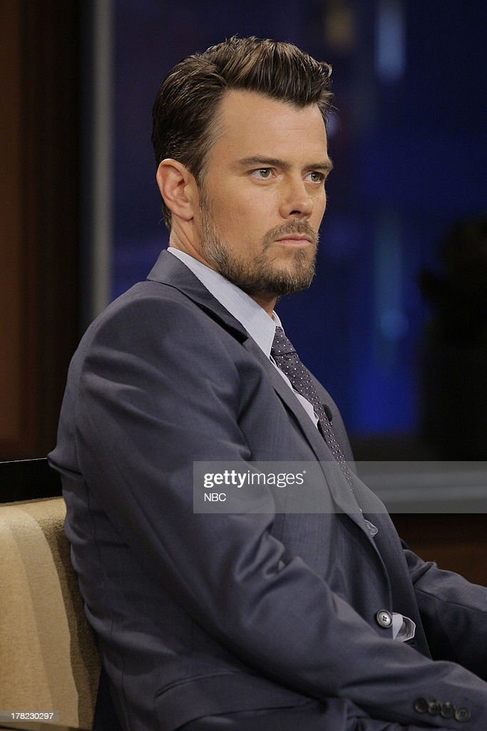 LENO -- (EXCLUSIVE COVERAGE) -- Episode 4517 -- Pictured: Actor <a gi-track='captionPersonalityLinkClicked' href=/galleries/search?phrase=Josh+Duhamel&family=editorial&specificpeople=208740 ng-click='$event.stopPropagation()'>Josh Duhamel</a> during a commercial break on August 27, 2013 --