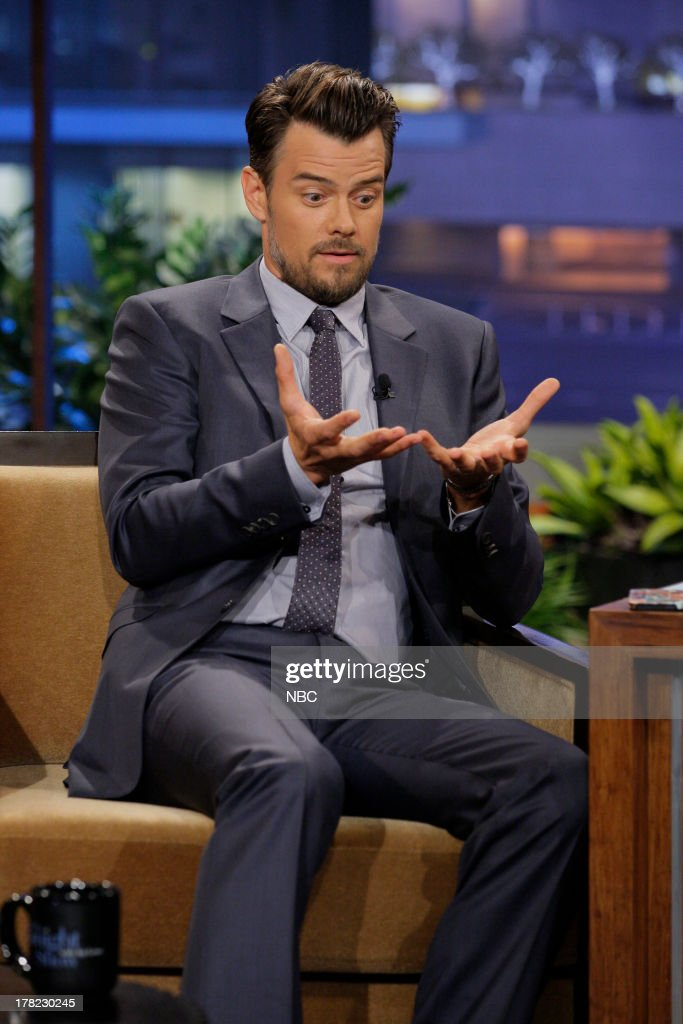 Actor <a gi-track='captionPersonalityLinkClicked' href=/galleries/search?phrase=Josh+Duhamel&family=editorial&specificpeople=208740 ng-click='$event.stopPropagation()'>Josh Duhamel</a> during an interview on August 27, 2013 --
