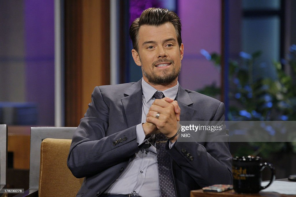 Actor Josh Duhamel during an interview on August 27, 2013 --