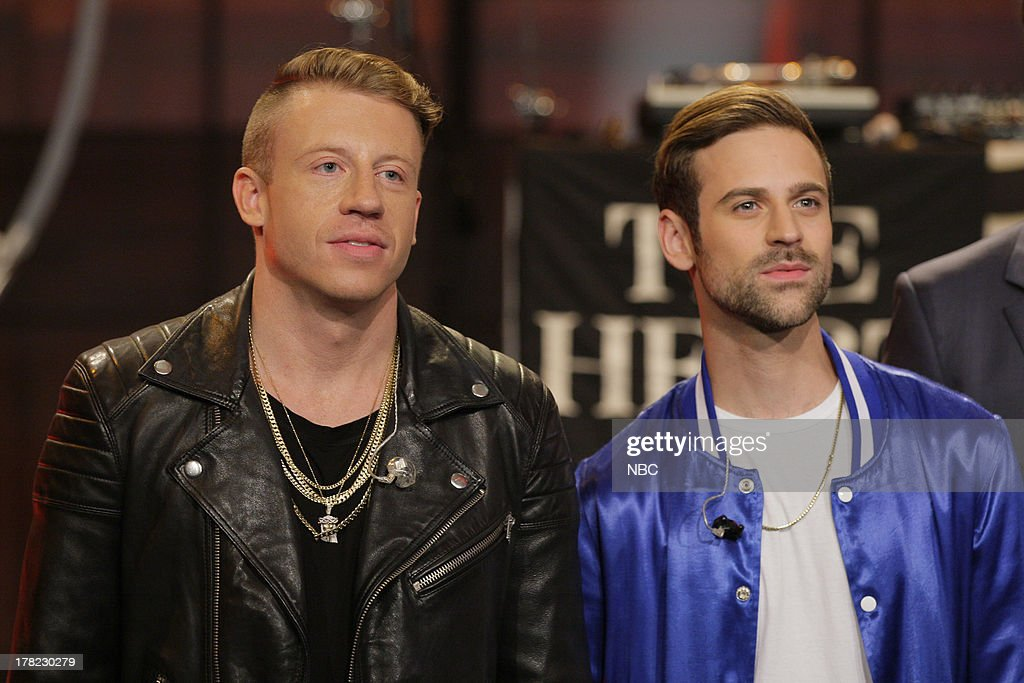 Musical guest <a gi-track='captionPersonalityLinkClicked' href=/galleries/search?phrase=Macklemore&family=editorial&specificpeople=7639427 ng-click='$event.stopPropagation()'>Macklemore</a> & Ryan Lewis on August 27, 2013 --