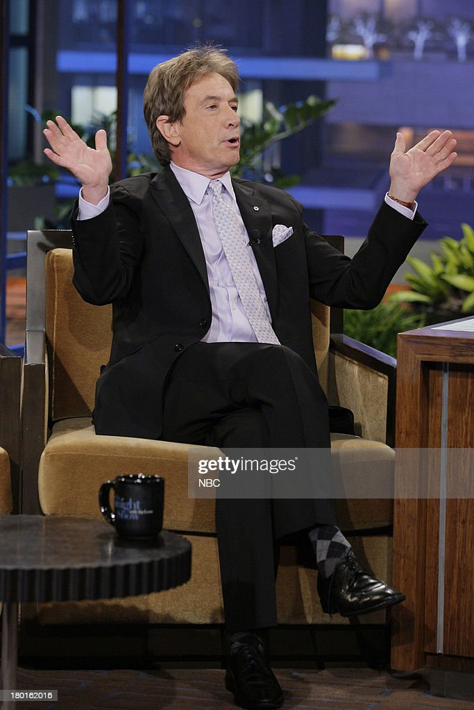 Actor <a gi-track='captionPersonalityLinkClicked' href=/galleries/search?phrase=Martin+Short&family=editorial&specificpeople=211569 ng-click='$event.stopPropagation()'>Martin Short</a> during an interview on September 9, 2013 --