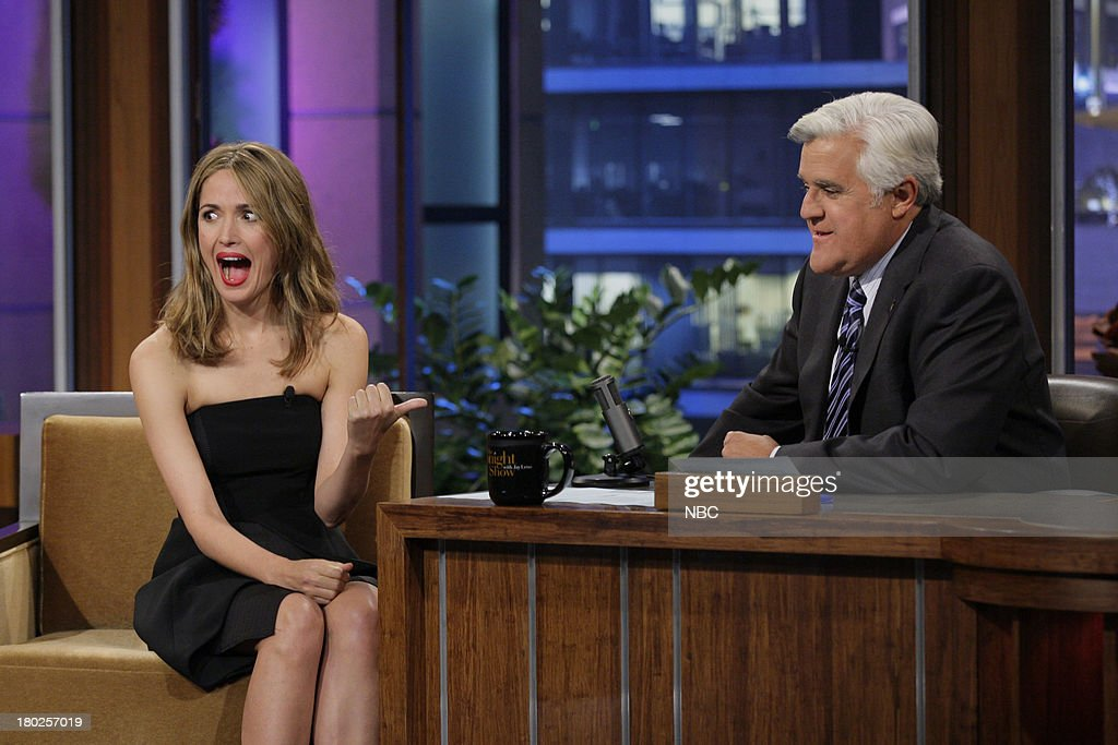 Actress Rose Byrne during an interview with host Jay Leno on September 10, 2013 --