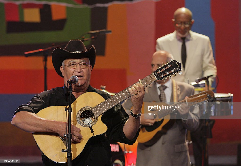 Musical guest Luis Barzaga of Buena Vista Social Club perform on September 13, 2013 --