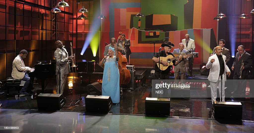 Musical guests Buena Vista Social Club perform on September 13, 2013 --