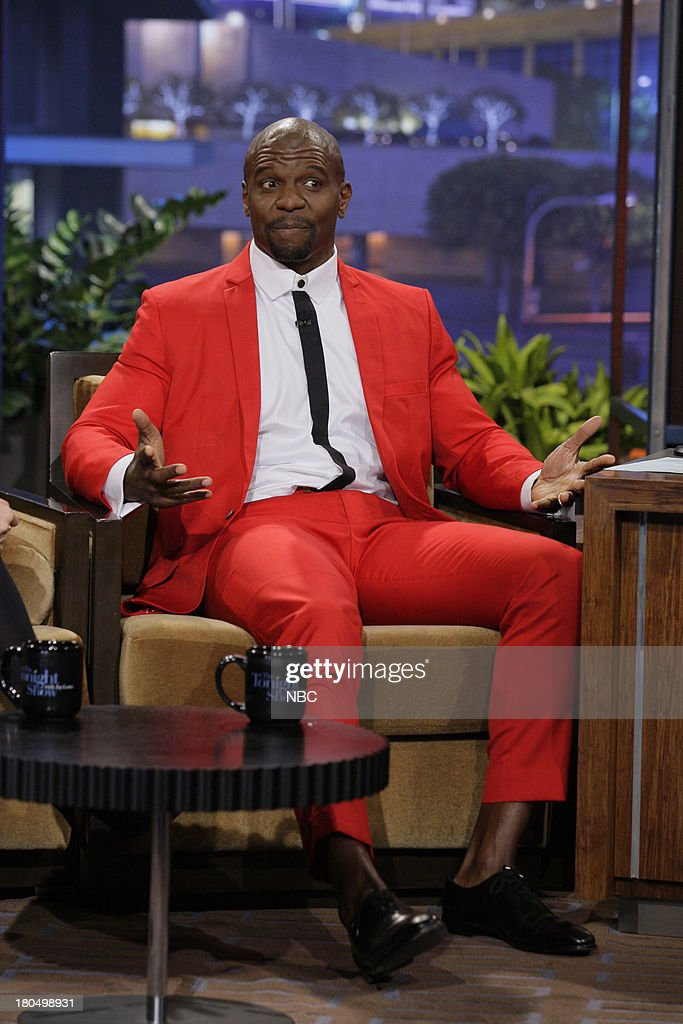Actor <a gi-track='captionPersonalityLinkClicked' href=/galleries/search?phrase=Terry+Crews&family=editorial&specificpeople=569932 ng-click='$event.stopPropagation()'>Terry Crews</a> during an interview on September 13, 2013 --