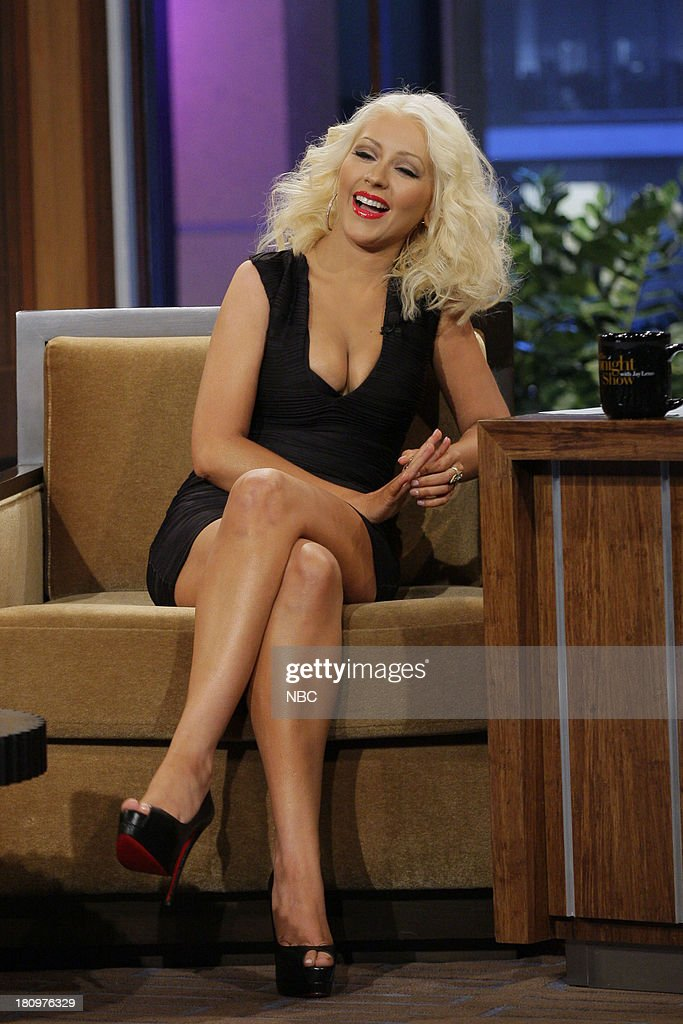 Singer Christina Aguilera during an interview on September 18, 2013 --