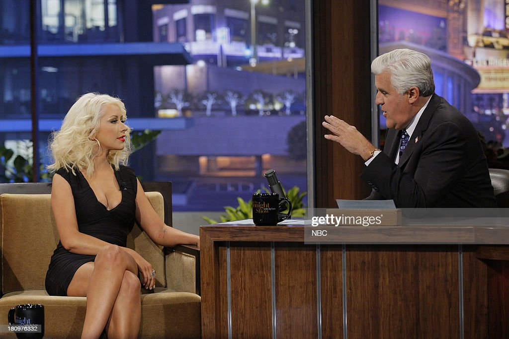 Singer Christina Aguilera during an interview with host Jay Leno on September 18, 2013 --