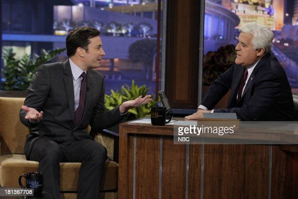 Jimmy Fallon during an interview with host Jay Leno on September 20 2013