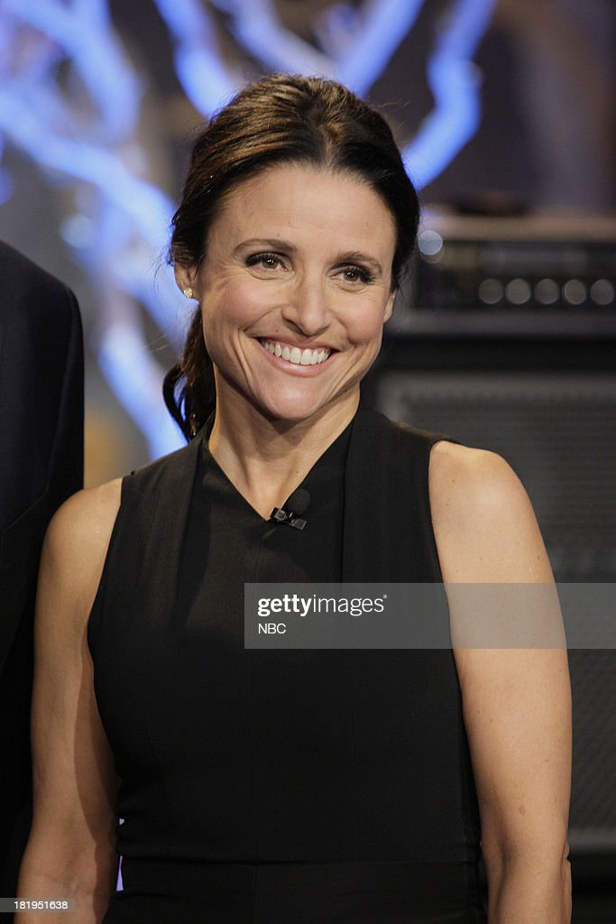 Actress <a gi-track='captionPersonalityLinkClicked' href=/galleries/search?phrase=Julia+Louis-Dreyfus&family=editorial&specificpeople=208965 ng-click='$event.stopPropagation()'>Julia Louis-Dreyfus</a> onstage September 26, 2013 --