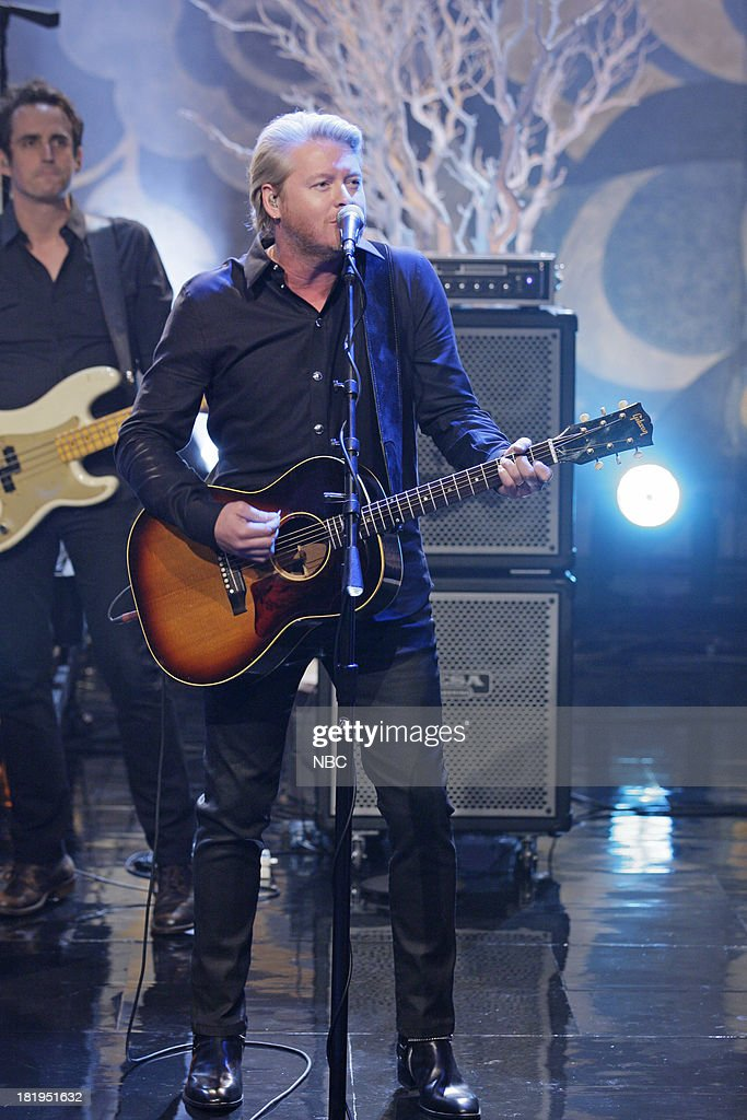Musical guest Phillip Sweet of Little Big Town performs on September 26, 2013 --