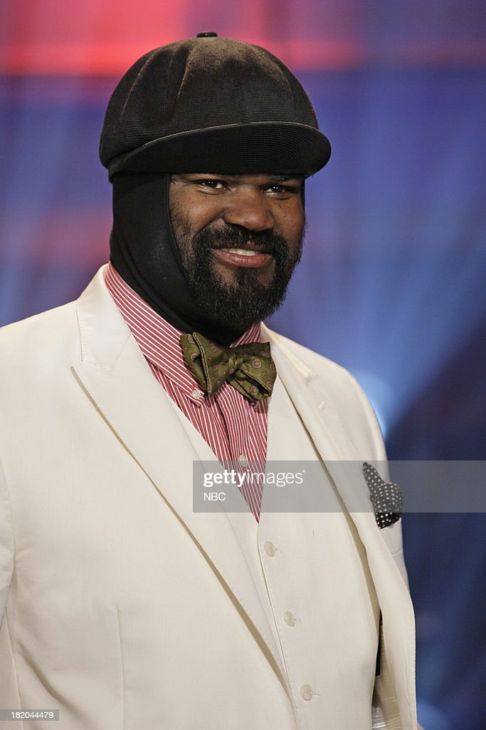 Musical guest <a gi-track='captionPersonalityLinkClicked' href=/galleries/search?phrase=Gregory+Porter&family=editorial&specificpeople=7494861 ng-click='$event.stopPropagation()'>Gregory Porter</a> onstage September 27, 2013 --