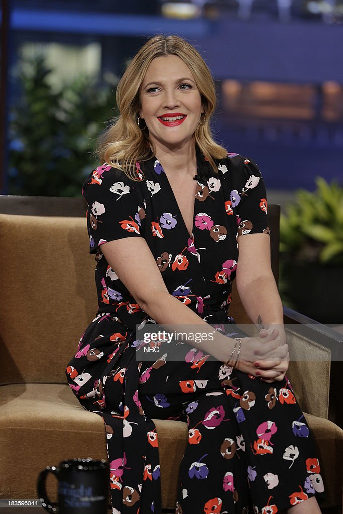 Actress <a gi-track='captionPersonalityLinkClicked' href=/galleries/search?phrase=Drew+Barrymore&family=editorial&specificpeople=201623 ng-click='$event.stopPropagation()'>Drew Barrymore</a> during an interview on October 7, 2013 --
