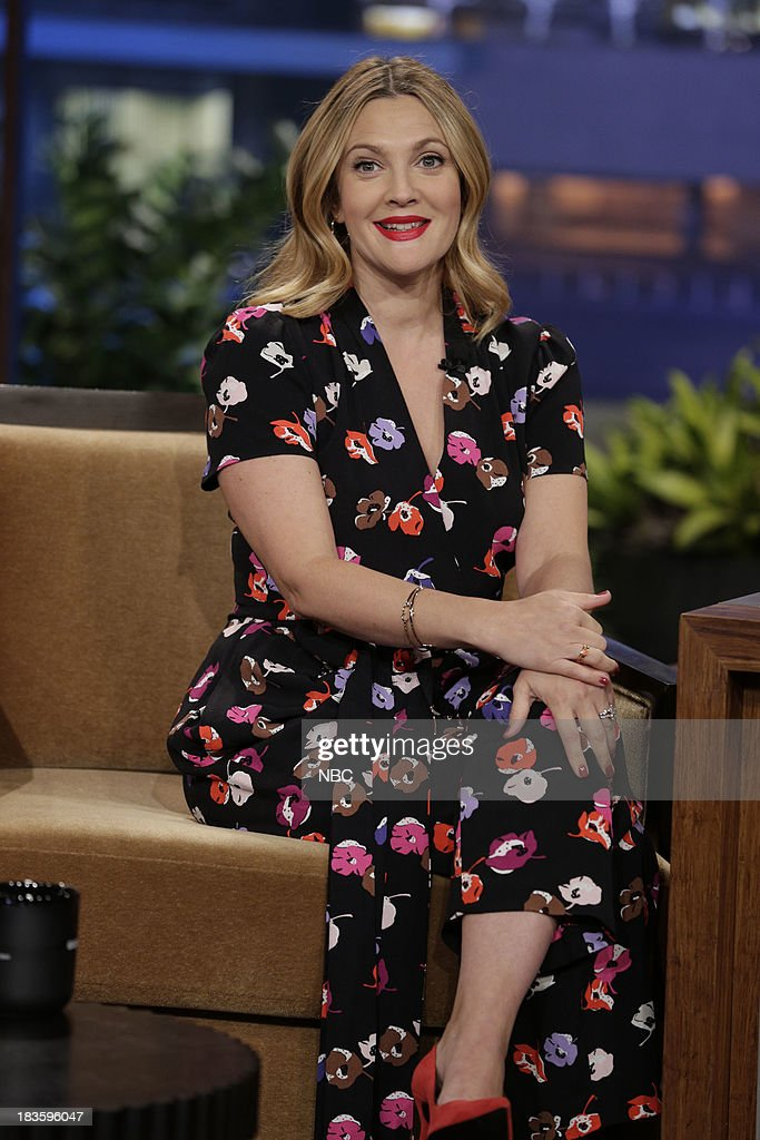 Actress Drew Barrymore during an interview on October 7, 2013 --