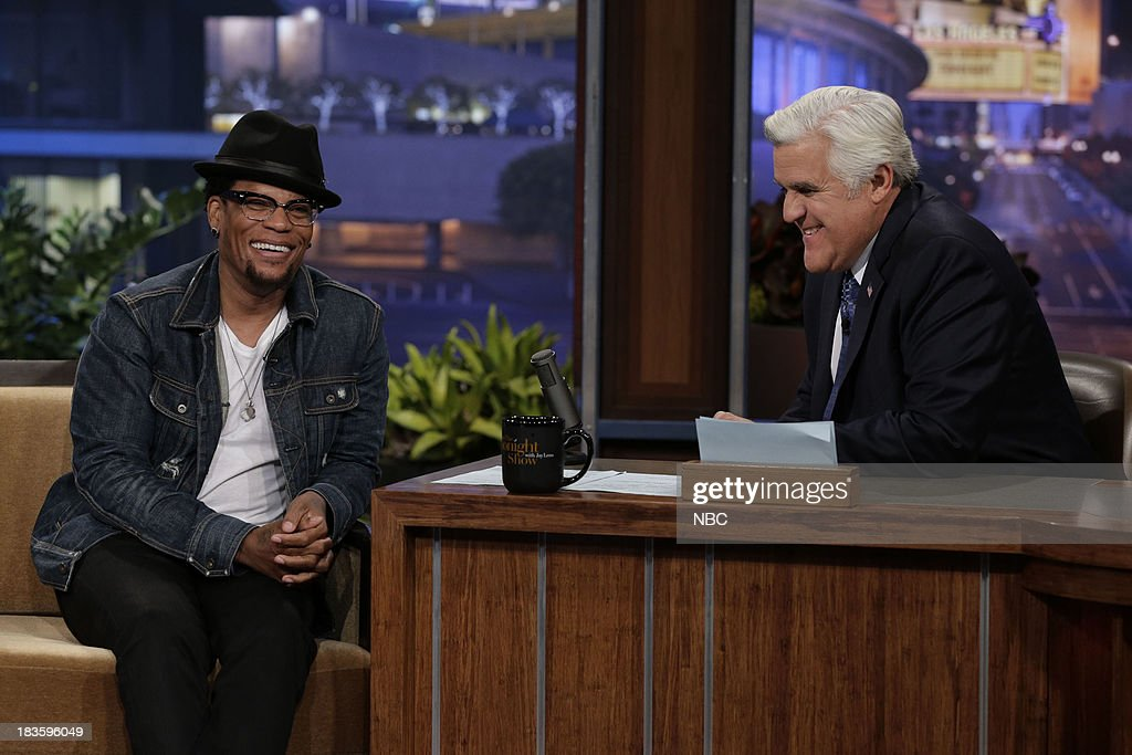 Comedian <a gi-track='captionPersonalityLinkClicked' href=/galleries/search?phrase=D.L.+Hughley&family=editorial&specificpeople=211272 ng-click='$event.stopPropagation()'>D.L. Hughley</a> during an interview with host Jay Leno on October 7, 2013 --