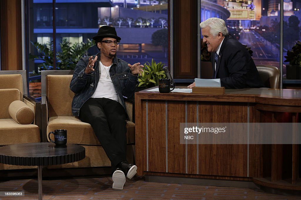 Comedian D.L. Hughley during an interview with host Jay Leno on October 7, 2013 --