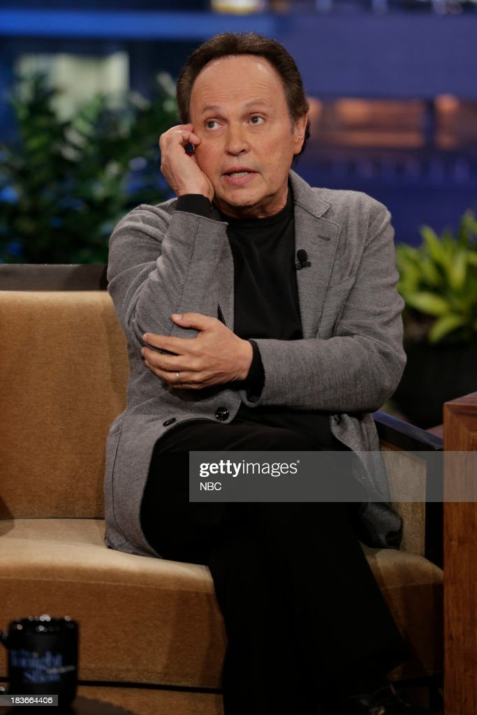 Comedian <a gi-track='captionPersonalityLinkClicked' href=/galleries/search?phrase=Billy+Crystal&family=editorial&specificpeople=202497 ng-click='$event.stopPropagation()'>Billy Crystal</a> during an interview on October 8, 2013 --