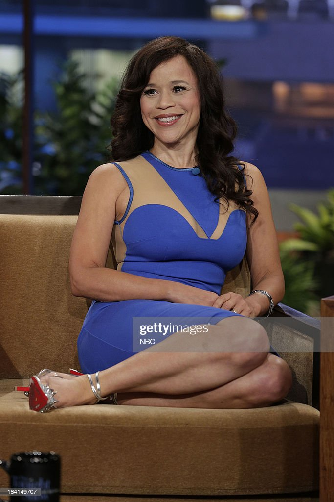 Actress <a gi-track='captionPersonalityLinkClicked' href=/galleries/search?phrase=Rosie+Perez&family=editorial&specificpeople=171833 ng-click='$event.stopPropagation()'>Rosie Perez</a> during an interview on October 11, 2013 --
