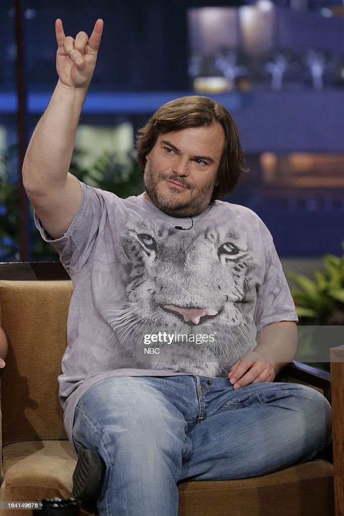 <a gi-track='captionPersonalityLinkClicked' href=/galleries/search?phrase=Jack+Black&family=editorial&specificpeople=171453 ng-click='$event.stopPropagation()'>Jack Black</a> of Tenacious D during an interview on October 11, 2013 --