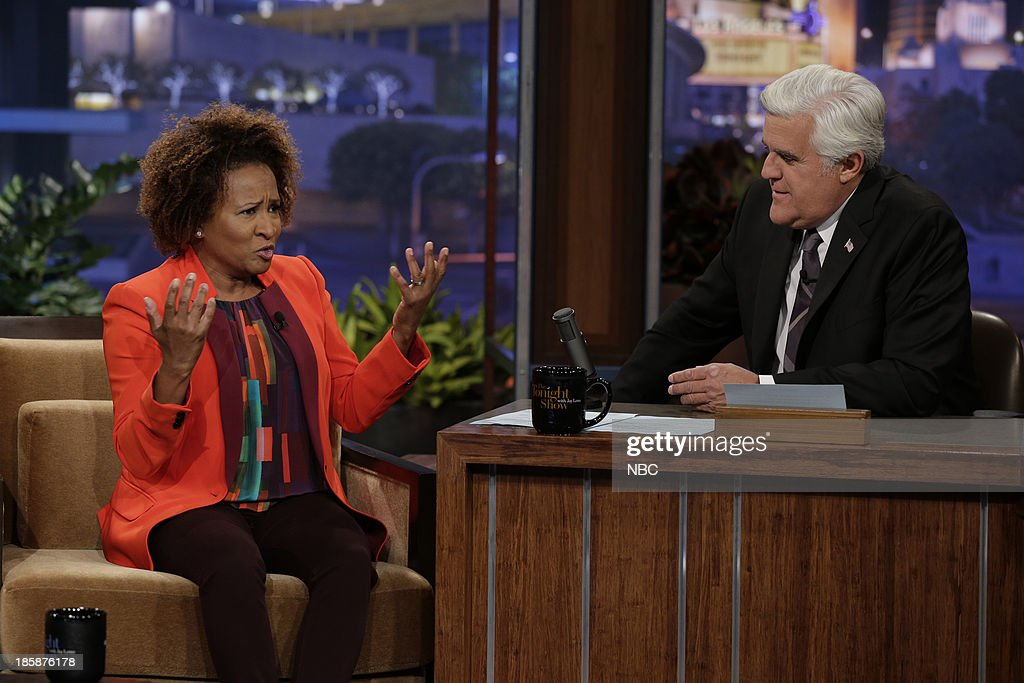 Comedian <a gi-track='captionPersonalityLinkClicked' href=/galleries/search?phrase=Wanda+Sykes&family=editorial&specificpeople=208075 ng-click='$event.stopPropagation()'>Wanda Sykes</a> during an interview with host Jay Leno on October 25, 2013 --
