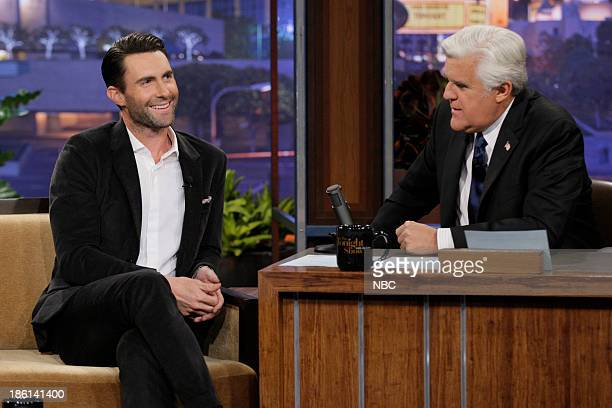 Singer Adam Levine during an interview with host Jay Leno on October 28 2013