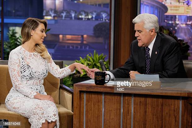 Kim Kardashian during an interview with host Jay Leno on October 30 2013