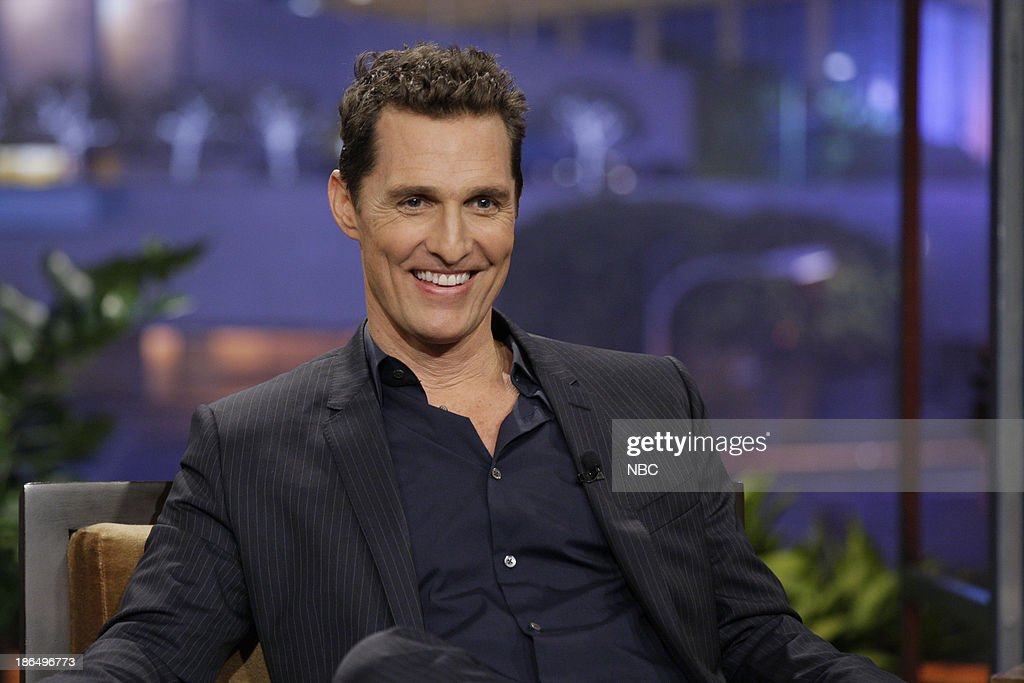Actor <a gi-track='captionPersonalityLinkClicked' href=/galleries/search?phrase=Matthew+McConaughey&family=editorial&specificpeople=201663 ng-click='$event.stopPropagation()'>Matthew McConaughey</a> during an interview on October 31, 2013 --