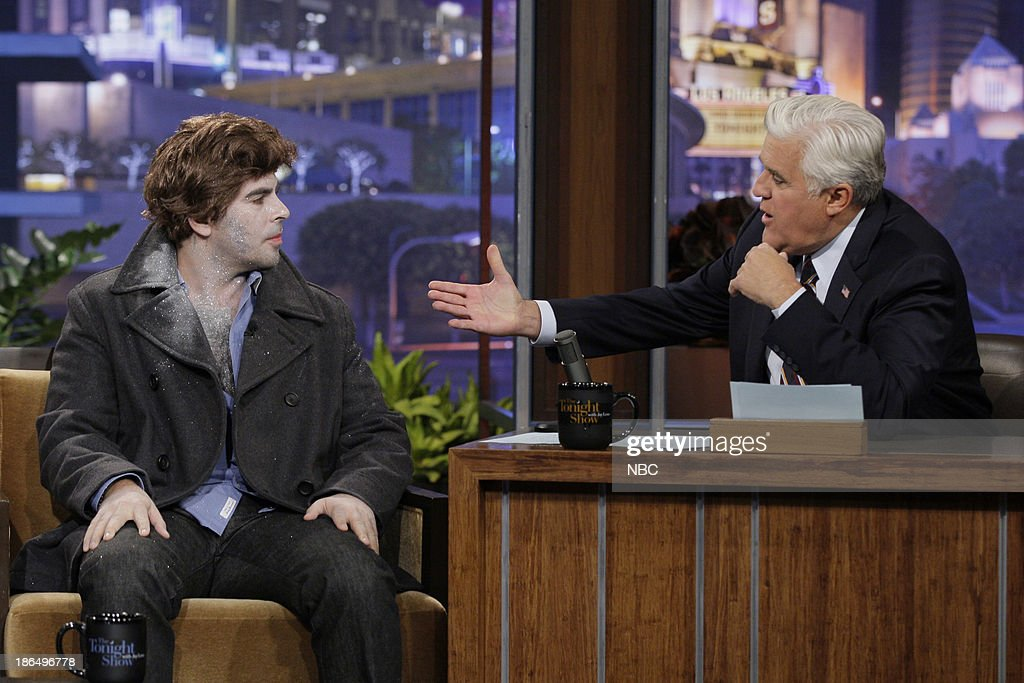 Director Eli Roth during an interview with host Jay Leno on October 31, 2013 --