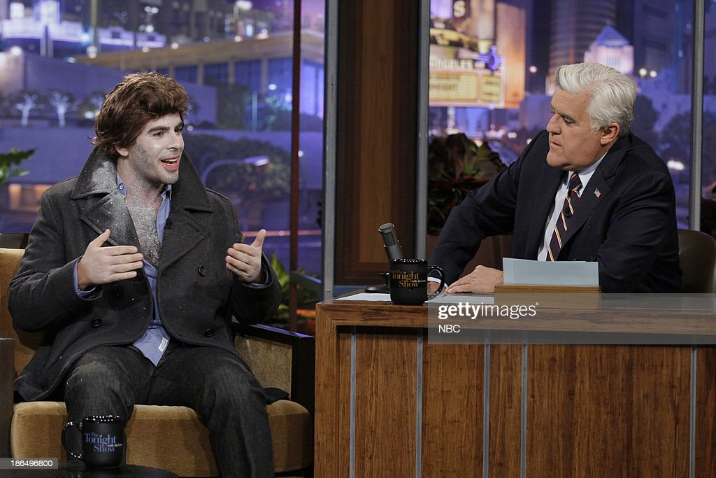 Director <a gi-track='captionPersonalityLinkClicked' href=/galleries/search?phrase=Eli+Roth&family=editorial&specificpeople=543948 ng-click='$event.stopPropagation()'>Eli Roth</a> during an interview with host Jay Leno on October 31, 2013 --