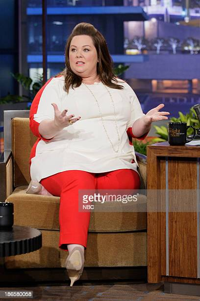 Actress Melissa McCarthy during an interview on November 1 2013